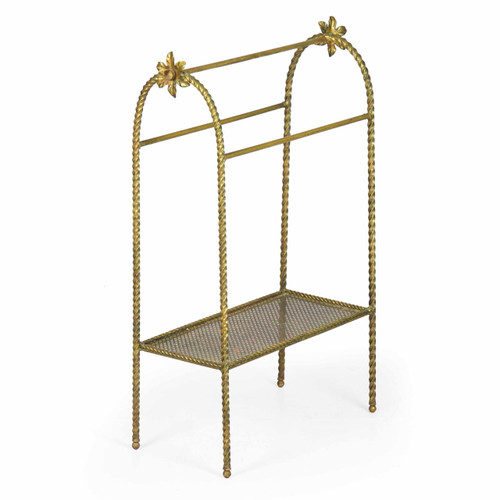 Vintage Gilt and Twisted Bronze Rack, mid 20th century