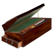 George III Period Mahogany Traveling Writing Slope, England c. 1790