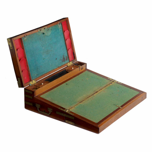 George III Brass Bound Mahogany Captain's Box circa 1790-1800