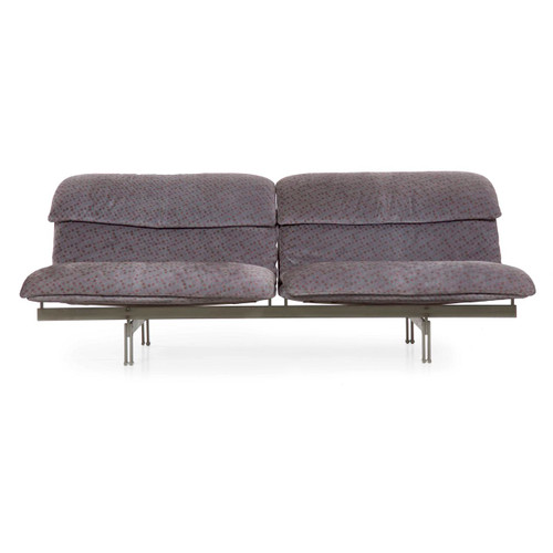 """Giovanni Offredi for Saporiti """"Wave"""" Two-Seater Sofa, Italy c. 1970s"""