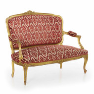 French Louis XV Style Carved Giltwood Settee circa 1900