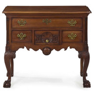 American Chippendale Style Carved Mahogany Lowboy