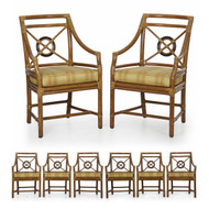 Set of Eight Bound Rattan Dining Chairs by McGuire
