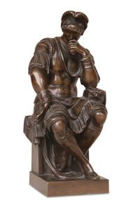 Fine Antique 19th Century Bronze Sculpture, Lorenzo Di Medici After Michelangelo