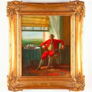 Attr. Jacob Spoel (Rotterdam, 1820-1868), Antique Dutch Portrait Oil Painting