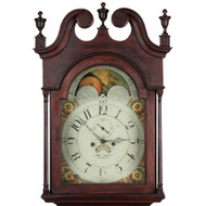 American Chippendale Walnut Tall Case Grandfather Clock, Pennsylvania c. 1800-10