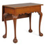 Rare American Chippendale Table w/ Single Drop Leaf, Connecticut c. 1770-90