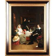 Hendrik Hollander (Dutch, 1823-1884) Antique Oil Painting Genre Scene