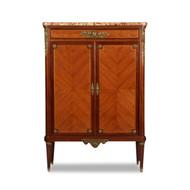 Paul Sormani (Italian & French, 1817-77) Louis XVI Style Gilt Bronze Cabinet