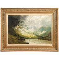 Alfred de Breanski (British, 1877-1957) Antique Landscape Painting of Highlands