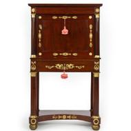 Fine French Empire Mahogany Abattant Desk w/ Gilt Bronze Mounts, c. 1810-30