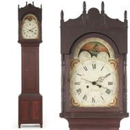 American Federal Tall Case Clock Emanuel Meily (Pennsylvania, 1776-1851) Antique