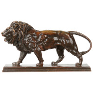 Antoine Barye (French, 1796-1875) Antique Bronze Lion Marchant (Lion Qui Marche)