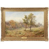 William Samuel Jay (British, 1843-1933) Antique Landscape Oil Painting, Signed