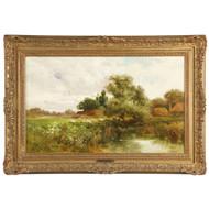 "John Horace Hooper (British, fl. 1852-1899) Landscape Painting, ""Saxmunden"""