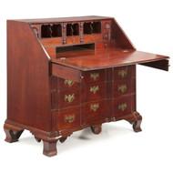 American Chippendale Block Front Desk, Massachusetts c. 1770
