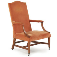American Federal Antique Mahogany Lolling Arm Chair c. 1800
