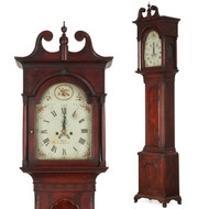 American Chippendale Walnut Tall Case Clock, John Davis, Pennsylvania