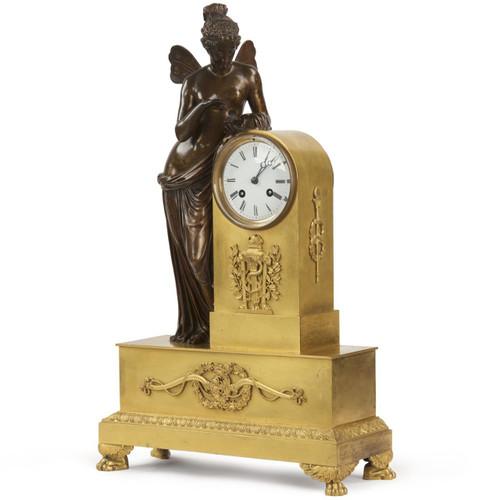 Fine Napoleon III French Gilt Bronze Mantel Clock, Psyche c. 1870