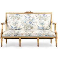 French Louis XVI Style Gilt Antique Settee Sofa c. 1900