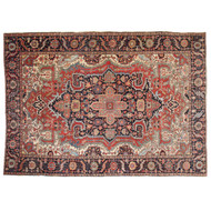 Fine Antique Persian Heriz Serapi Rug Carpet, Early 20th Century