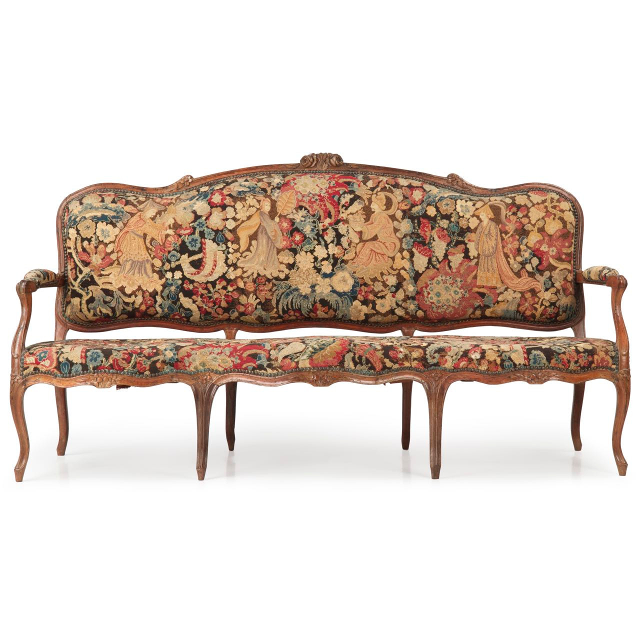 French louis xv period canape or settee c 1750 silla for Canape calculator