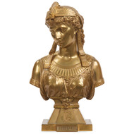 Egyptian Revival Sculpture of Cleopatra by Eutrope Bouret