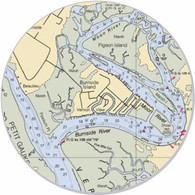 """This sticker shows the Burnside Island area. Show your pride for your home town with this one. Great on your car, truck, golf cart, beach cart, cooler, etc. The possibilities are endless. 3"""" circle"""