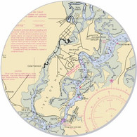 "This sticker shows the Isle of Hope area. Show your pride for your home town with this one. Great on your car, truck, golf cart, beach cart, cooler, etc. The possibilities are endless. 3"" circle"
