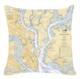 Nautical Chart Pillow showing Charleston area