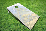 Cornhole Game Set - Custom Nautical Chart