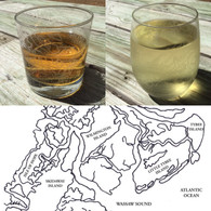 Etched Nautical Chart Glasses - Custom Nautical Gifts