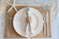 Custom Nautical Chart Napkins Set of 4 - Nautical Gifts