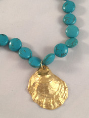 Turquoise Oyster Necklace