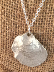 Silver Oyster Necklace