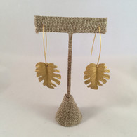 Monstera Palm Earrings