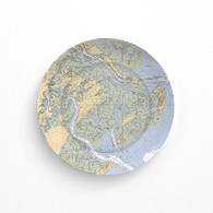 Nautical Chart Melamine Plate Savannah or other Coastal Areas