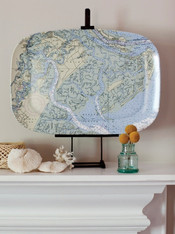 Custom Nautical Chart Platter - Nautical Gifts