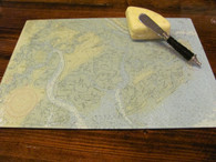 Custom Nautical Chart Cutting Board and Serving Tray - Large