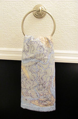 Hand Towels with Custom Nautical Charts
