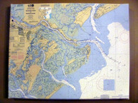 Custom Nautical Chart Wrapped Canvas - Small