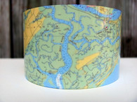 Nautical cuff bracelet featuring Savannah and surrounding coastal areas.