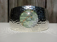 Silver plated hammered nautical cuff bracelet featuring Savannah and surrounding coastal areas.