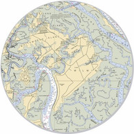 "This sticker shows the entire Savannah area. Show your pride for your home town with this one. Great on your car, truck, golf cart, beach cart, cooler, etc. The possibilities are endless. 3"" circle"