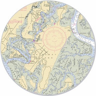 "This sticker shows the Skidaway Island area. Show your pride for your home town with this one. Great on your car, truck, golf cart, beach cart, cooler, etc. The possibilities are endless. 3"" circle"
