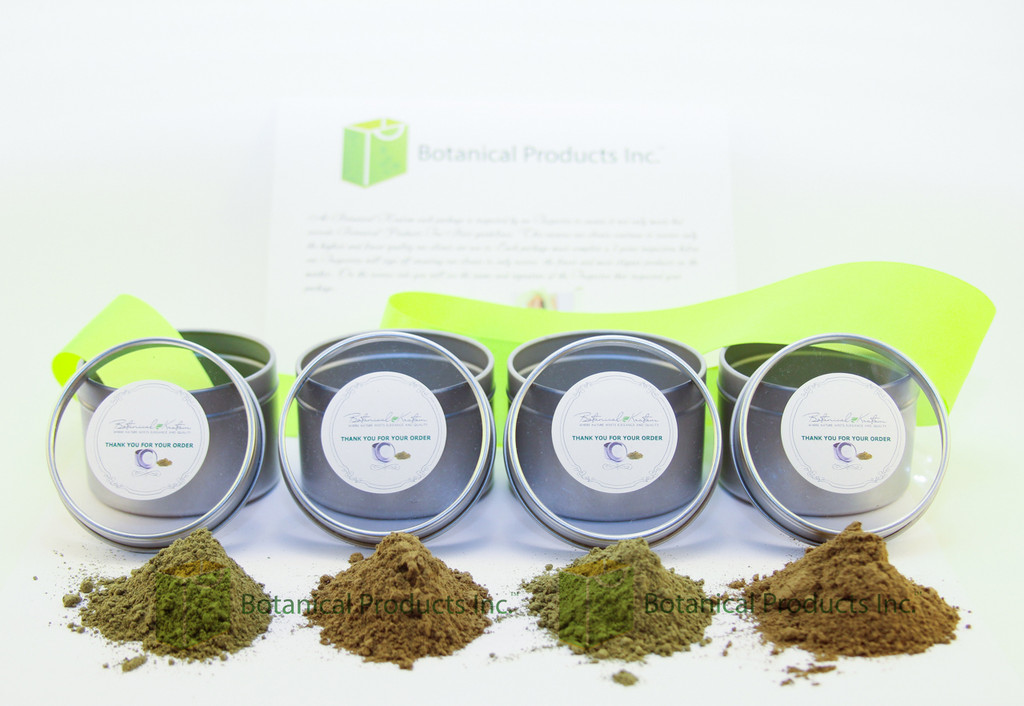 Based on popular demand, Botanical Products Inc. is now proud to introduce The Travel Pack! With durable and compact packaging that keeps your product fresh, it's a breeze to travel anywhere with the botanicals that love.  What's Included?  This package comes with 4 stainless steel tins, loaded with your choice of any 4 strains of Grade-A Botanical Fine Powder.   Every Travel Pack order also includes an elegant and stylish Glass Tea Infuser Set by Endless. It includes Portable Travel Tea Cup For Loose Tea Leaf, Coffee, Fruit Infusion- Twist Cap, Leak-proof, Double Wall Insulation Stainless Steel Tea Strainer + Filter.  Thanks to our amazing customers who asked for something like this. We've taken the time to develop a product that has everything you asked for, and is as stylish and elegant as you have come to expect from us. We are very excited to deliver on our promise to you!   The Botanical Products Inc. Travel Pack is yours to enjoy! As always, we welcome your comments and feedback. Give us a call toll-free to tell us what you think or to order yourself a Travel Pack today!  Our toll free phone number is 1-877-482-0516