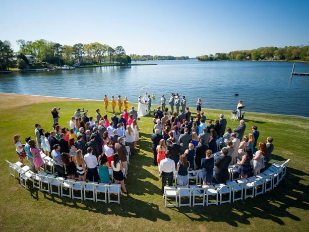 Wedding drone image