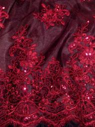 TLZ22019 Burgundy Lace