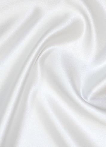 White Duchess Satin Fabric