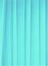 Carribbean Turquoise Sheer Dress Fabric